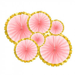 Паперові розетки Рожеві 6шт/уп