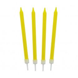 Свічки для торта жовті 10шт/уп