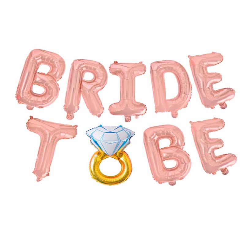 Повітряні Кульки Букви Bride to be рожеве-золото