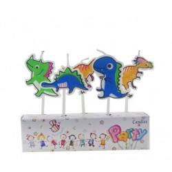 Свічки для торта Динозаври...