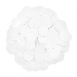Конфетти кружочки белые 25 г