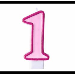Свічка для торта Цифра 1...