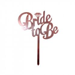 Топер Bride to be рожеве...