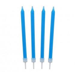 Свечи классические голубые...