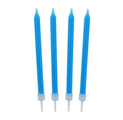 Свечи классические голубые 10шт/уп