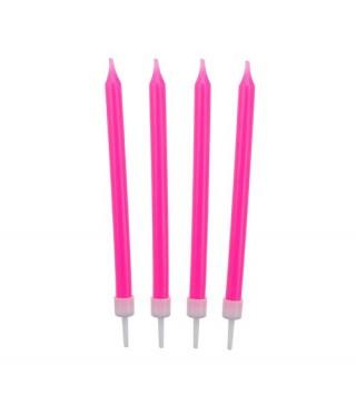 Свічки класичні рожеві