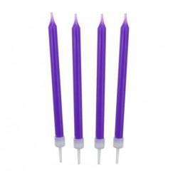 Свічки класичні фіолетові...