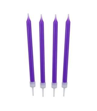 Свечи классические фиолетовые 10шт/уп