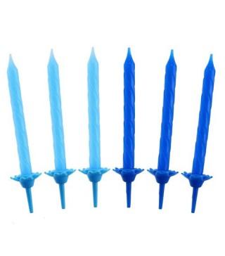 Свечи сине-голубые 24шт/уп