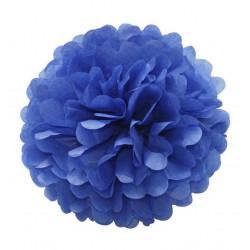 Помпон паперовий синій 25см