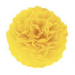 Помпон паперовий жовтий 25см