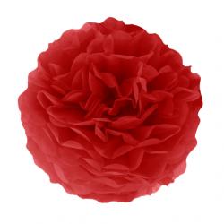 Помпон паперовий червоний 25см