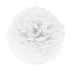 Помпон паперовий білий 25см