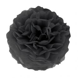 Помпон паперовий чорний 25см