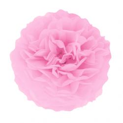 Помпон паперовий рожевий 25см