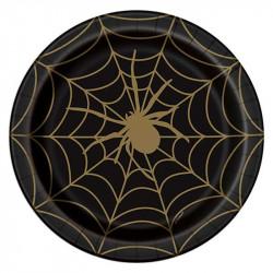 Тарілки Чорні в павутину з...