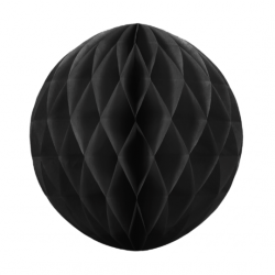 Паперова куля-соти чорна 30см