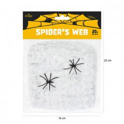 Декорація Павутина Біла хелловін капрон 512532 PartyPal
