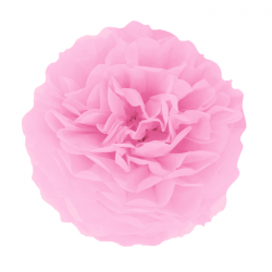 Декорація Помпон світло рожевийвий 25см1шт/уп.  папір 511761 PartyPal 25см(р)