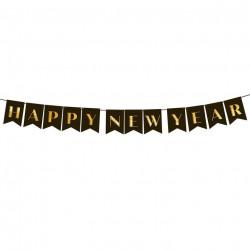 Декорація Гірлянда Happy New Year2,5м папір 512666 PartyPal 2,5м(р)