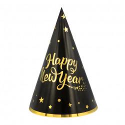 Ковпачок Happy New YEAR 21см, 1шт папір 512667 PartyPal 21см(р)