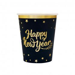 Стаканчики Happy New YEAR 21см, 6шт.уп папір 512662 PartyPal