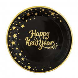Тарілки Happy New YEAR 18см, 6шт.уп папір 512661 PartyPal