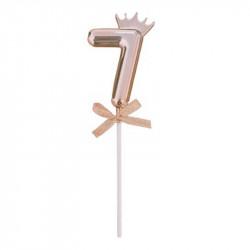 Топер цифра 7 з коронкою...