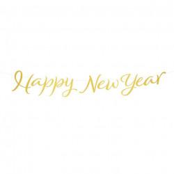 Декорація Гірлянда Happy New YEAR 1,2м папір 512668 PartyPal 1,2м(р)