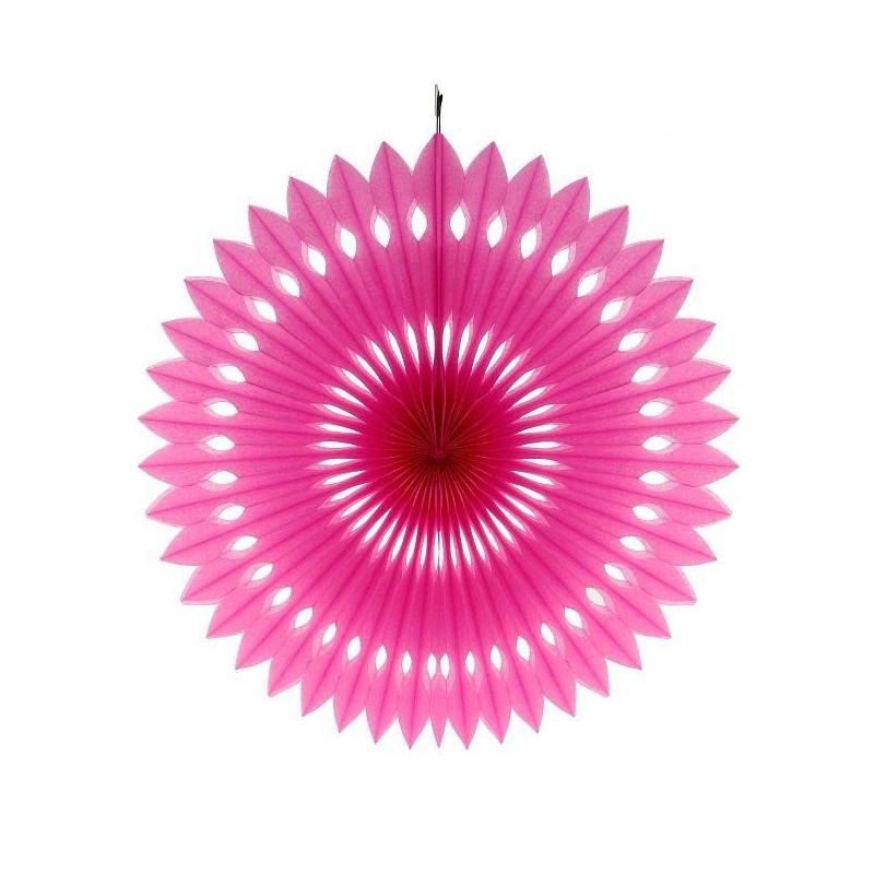 Бумажный веер (фант) малиновый 40 см