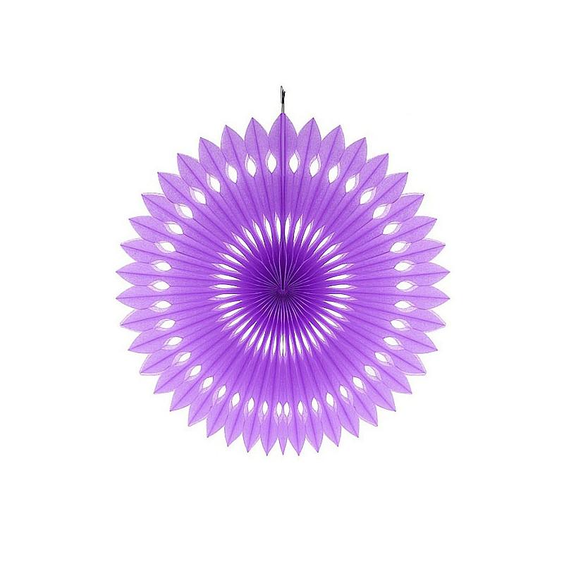 Бумажный веер (фант) фиолетовый 40 см
