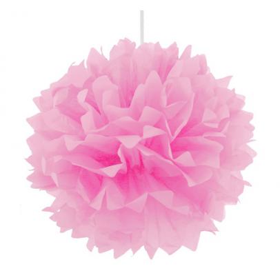 Помпон декоративный розовый 40см