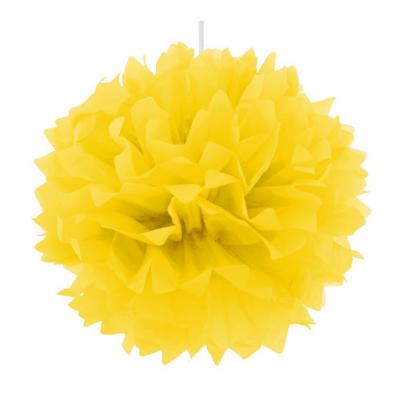 Помпон желтый 40см