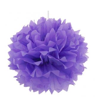Помпон фиолетовый 40см