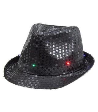Шляпа Супер звезда мигающая черная