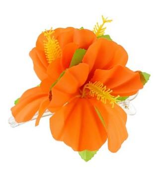 Гавайська заколка помаранчева