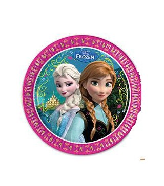 Тарілочки Крижане серце (Frozen), 8 шт/уп