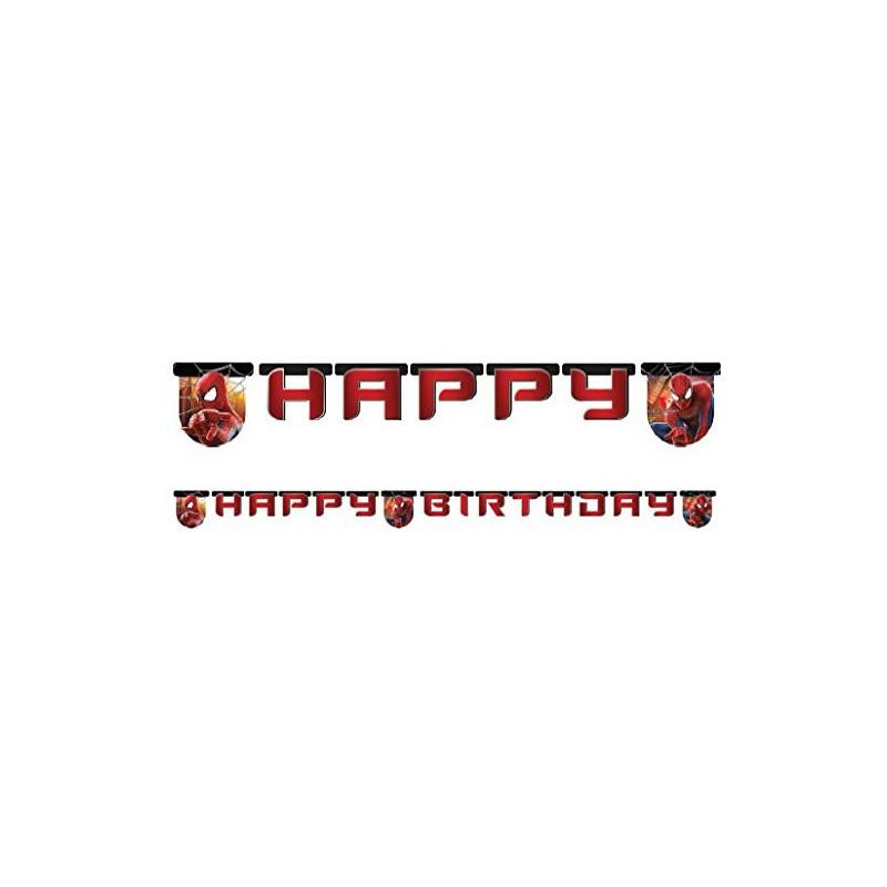 Гирлянда Happy Birthday Спайдермен