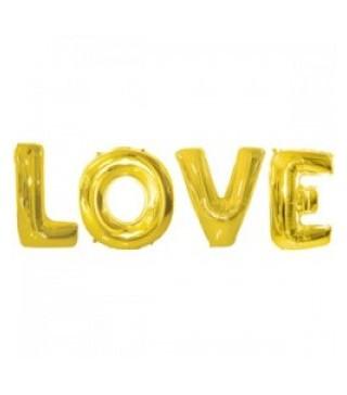 Шарики фольгированные Love