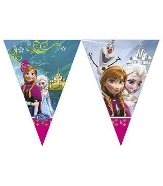 Гірлянда-прапорці Крижане серце (Frozen)