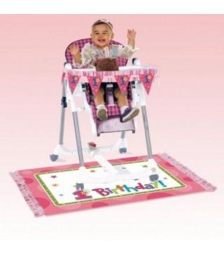 Декорація на годувальне крісло 1-й рік рожева