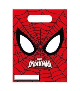 Подарункові пакети Спайдермен 6 шт./уп.