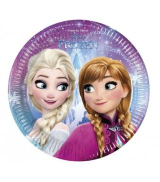 Тарілочки для свята Крижане серце (Frozen)