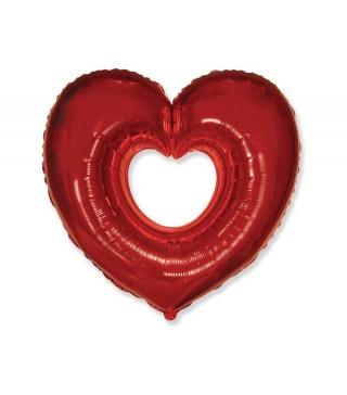 Кулька фольгована серце відкрите