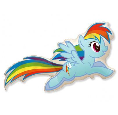 Шарик фольгированный фигурный My Little Pony радуга