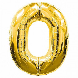 Кулька цифра 0 золото...
