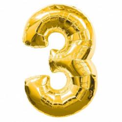 Кулька цифра 3 золото...