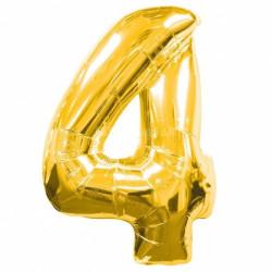 Кулька цифра 4 золото...