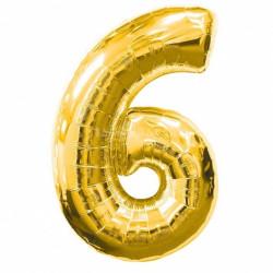 Кулька цифра 6 золото...
