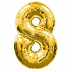 Кулька цифра 8 золото...